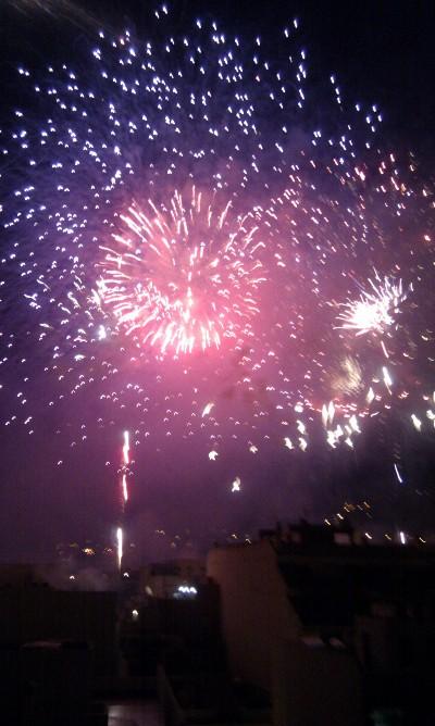 Feuerwerk in Los Realejos